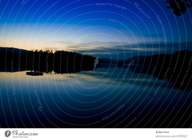 Norway Environment Landscape Water Sky Night sky Summer Beautiful weather Lakeside Swimming & Bathing To enjoy Esthetic Exceptional Fantastic Blue Moody