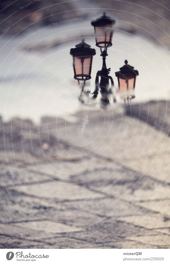Sky Vacation & Travel Dream Art Places Esthetic Perspective Romance Italy Lantern Past Surrealism Puddle Strange Venice Baroque