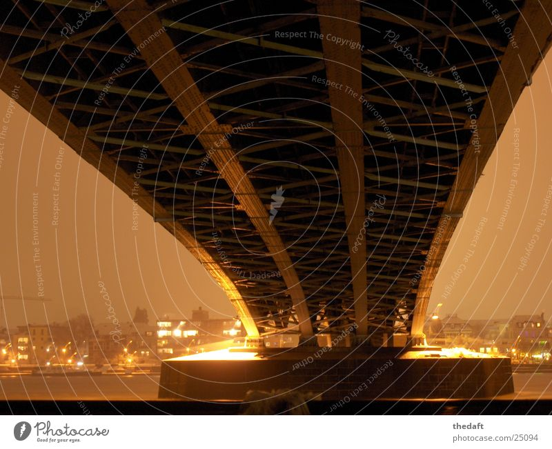 Snow Lighting Bridge River Image Historic Rhine Intersection Bonn Bridge pier