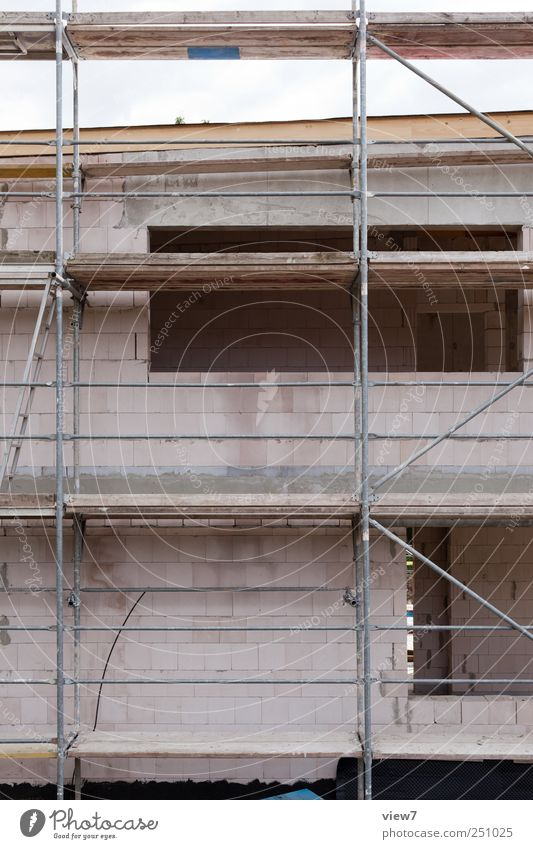 House (Residential Structure) Wall (building) Window Wall (barrier) Stone Line Door Facade Arrangement Beginning Break Stripe Construction site