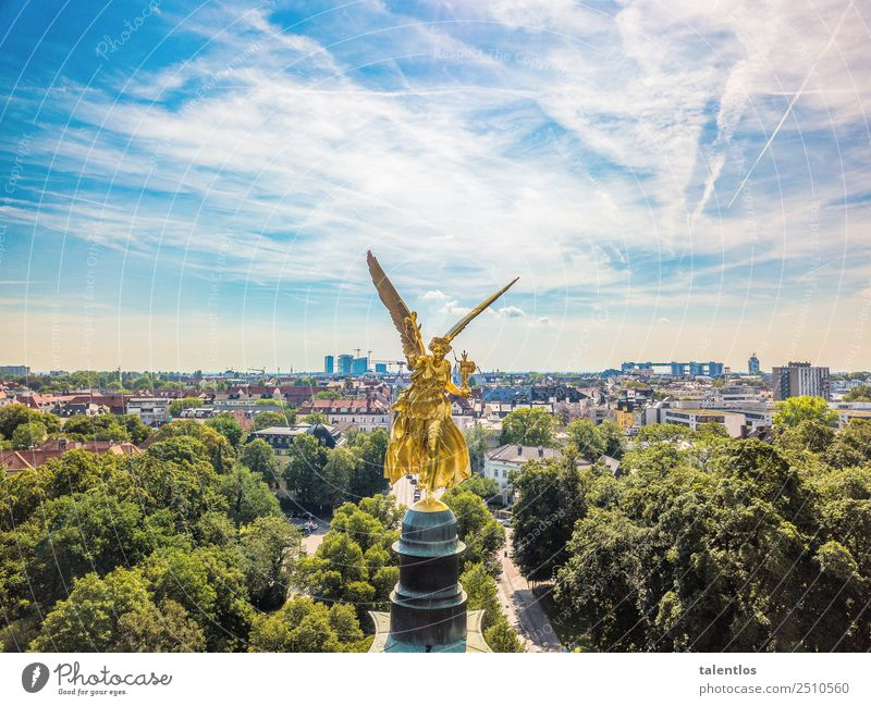 Angel of Peace Munich Sightseeing City trip Art Work of art Sculpture Architecture Town Manmade structures Tourist Attraction Landmark Monument Angel of peace