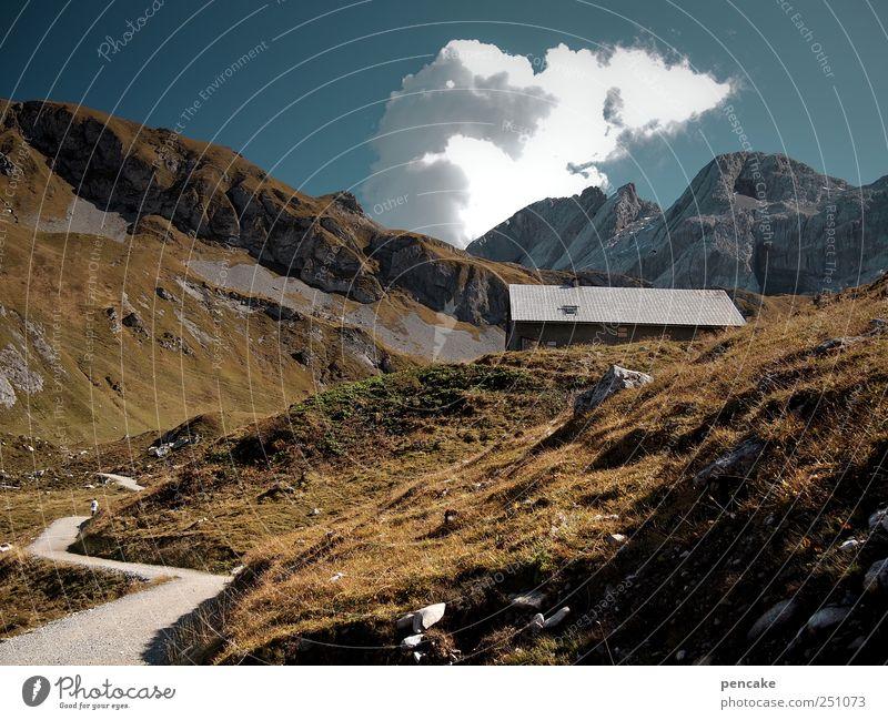 Mountain Rock Leisure and hobbies Hiking Sleep Peak Alps Wooden hut
