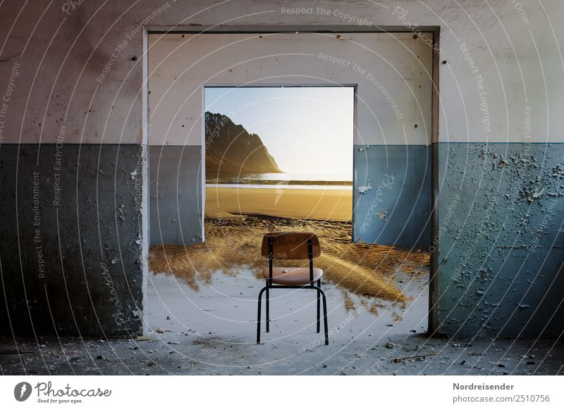 Thriller, passage room. Senses Freedom Beach Ocean Elements Coast North Sea Baltic Sea Deserted House (Residential Structure) Manmade structures Architecture