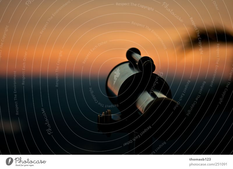 Sunset Telescope Nature Blue Clouds Black Landscape Metal Dream Horizon Gold Idyll