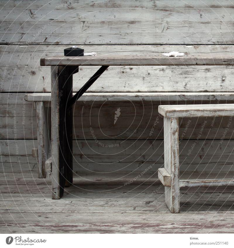 self-service Table Paper Wood Gray Black White Break bench Ashtray Handkerchief Stool Harbor city Seating Wood grain Overlay Overlaid Parallel Horizontal