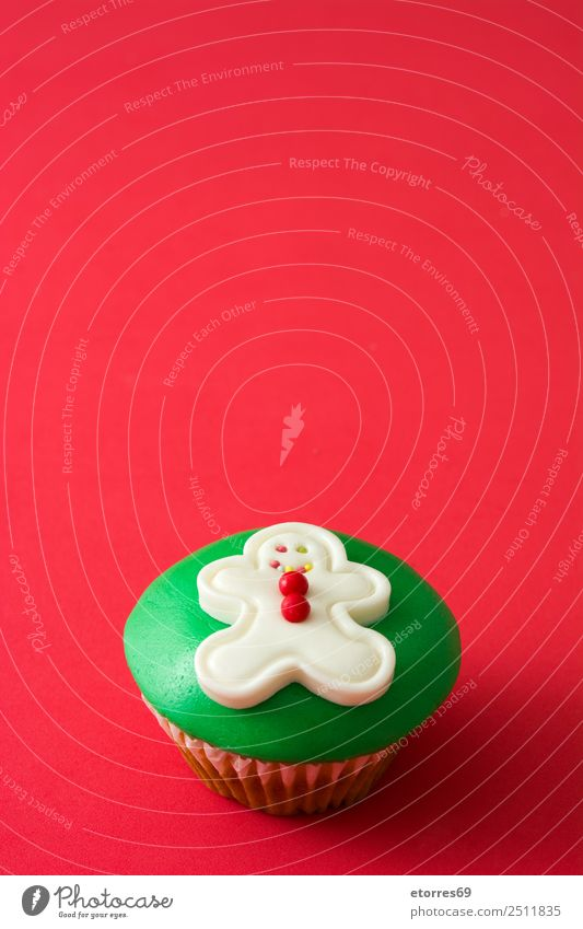 Christmas cupcake Vacation & Travel Healthy Eating Christmas & Advent Colour Green White Red Dish Food photograph Feasts & Celebrations Decoration Sweet Seasons
