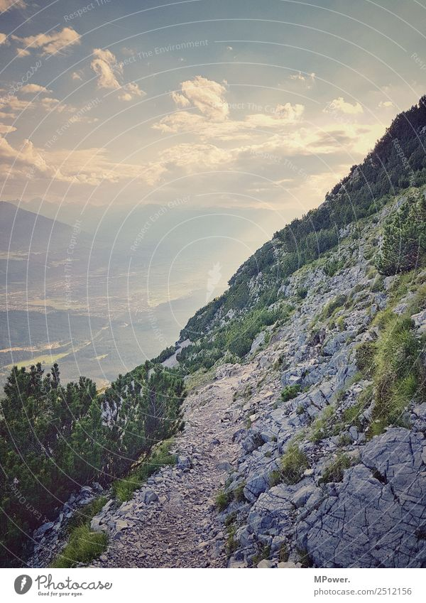 alpine path Leisure and hobbies Environment Nature Beautiful weather Joie de vivre (Vitality) Hiking Footpath Alps Stony Rock Vacation & Travel Freedom Steep