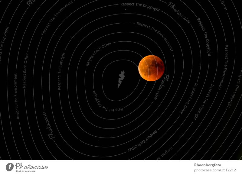 Lunar Eclipse 27.07.2018 Nature Elements Earth Air Sky Night sky Stars Moon Lunar eclipse Full  moon Summer Climate Weather Sphere Globe Colour photo