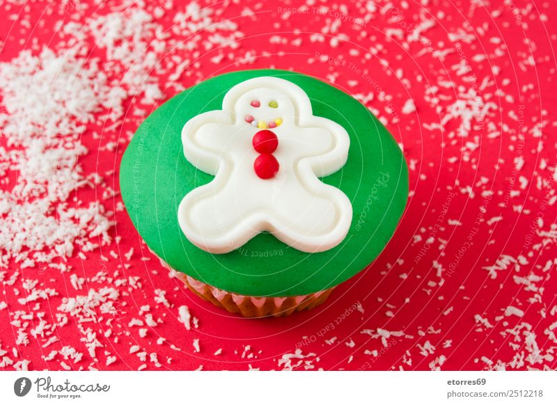 Christmas cupcake Food Food photograph Dish Baked goods Cake Dessert Healthy Eating Decoration Feasts & Celebrations Christmas & Advent Ornament Sweet Candy