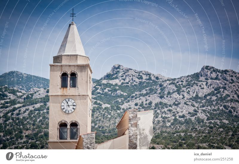 ...half church... Nature Landscape Earth Hill Mountain Peak Croatia Europe Fishing village Small Town Outskirts Deserted House (Residential Structure) Church