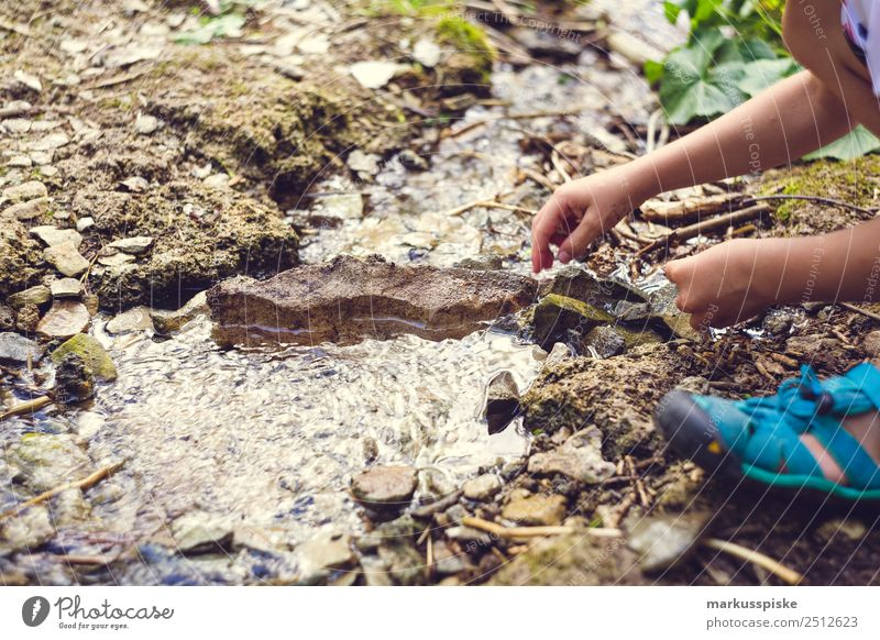 Child Human being Vacation & Travel Summer Water Hand Mountain Boy (child) Playing Trip Leisure and hobbies Hiking Infancy Adventure Arm Study
