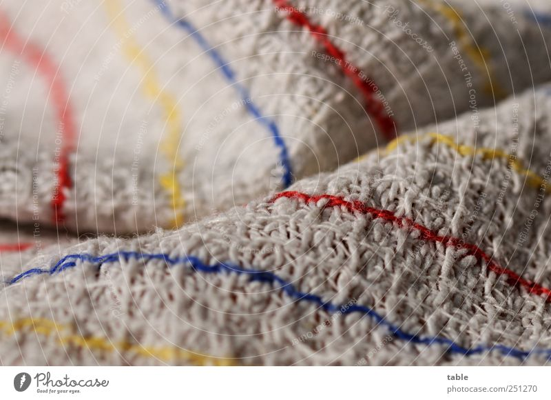Blue Red Yellow Gray Line Living or residing Cleaning Kitchen Clean Simple Dry Effort Purity Do the dishes Cotton Folds