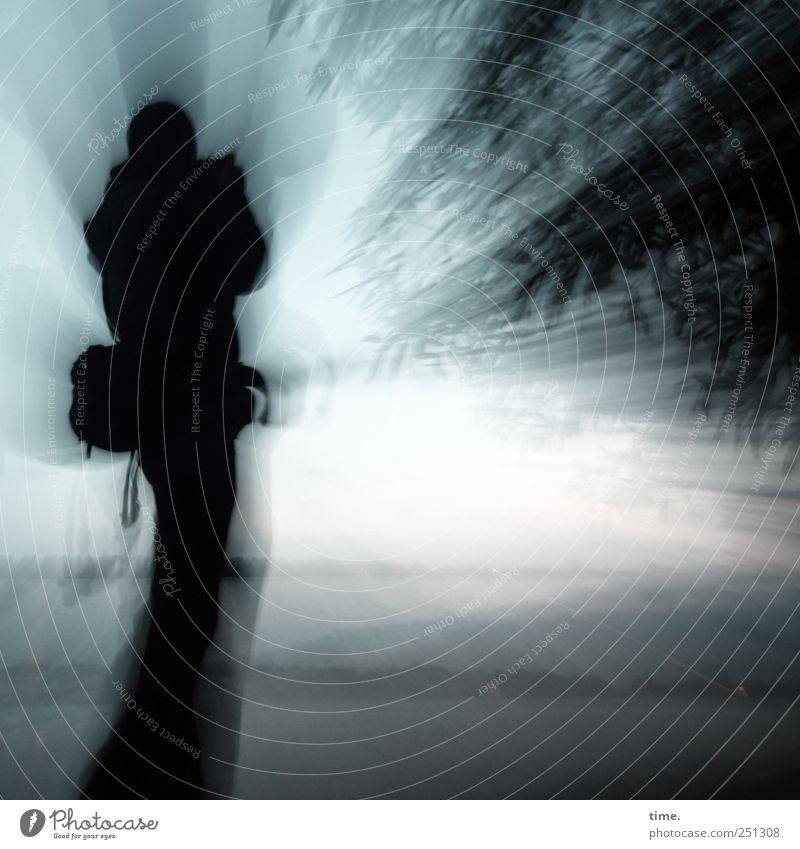 Human being Sky Nature Man Blue Joy Adults Landscape Dark Movement Horizon Moody Arm Masculine Energy Passion