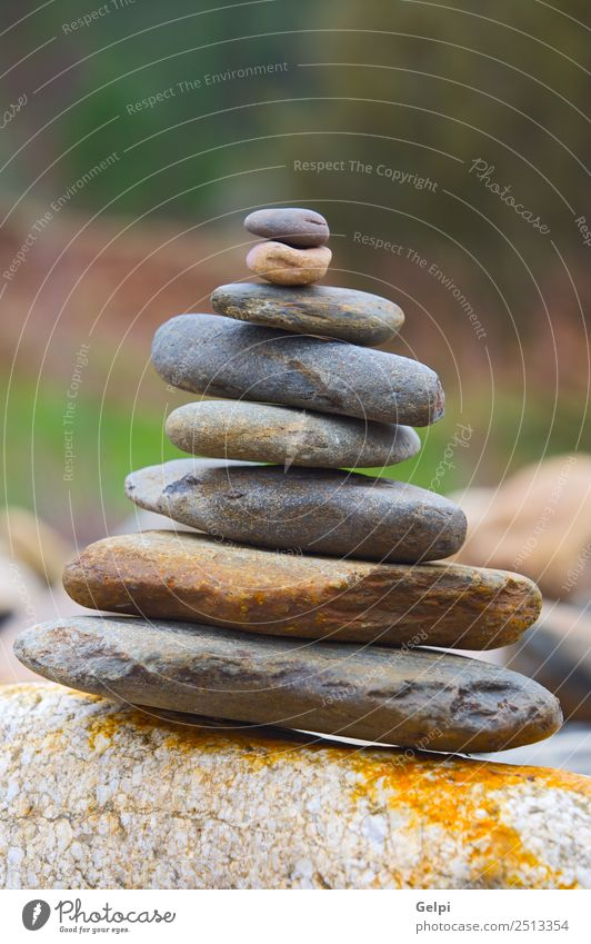 Rocks in balance Nature Ocean Relaxation Natural Coast Lake Stone Simple River Peace Harmonious Meditation Balance Conceptual design Stack