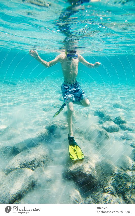 Human being Nature Youth (Young adults) Blue Water Ocean Relaxation Life Boy (child) Infancy Leisure and hobbies Swimming & Bathing Natural Happiness Authentic