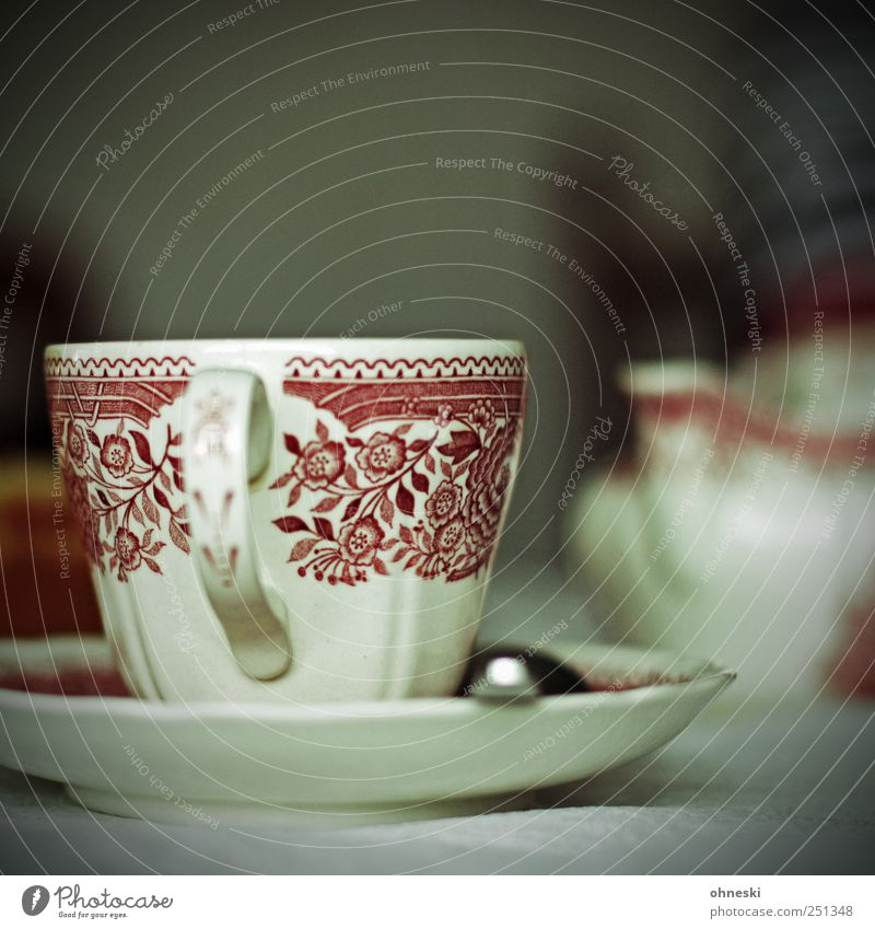 Living or residing Decoration Coffee Crockery Cup Nostalgia Spoon Coffee cup To have a coffee Saucer Nutrition Cutlery