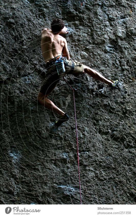 Human being Freedom Rock Climbing Fitness Athletic Mountaineer Performance