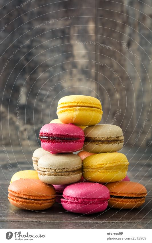 French macarons Macaron Sweet Candy Food Dish Food photograph Dessert Delicious Snack Cookie Tradition Pink Wood Tasty Purple Decoration Bakery backdrop
