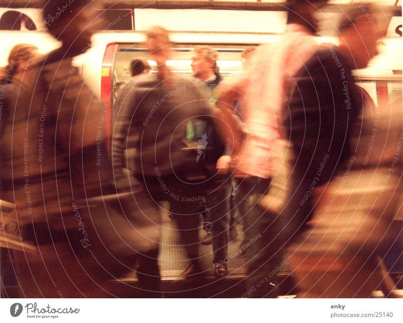 Human being Vacation & Travel Movement Group Underground London London Underground Haste England