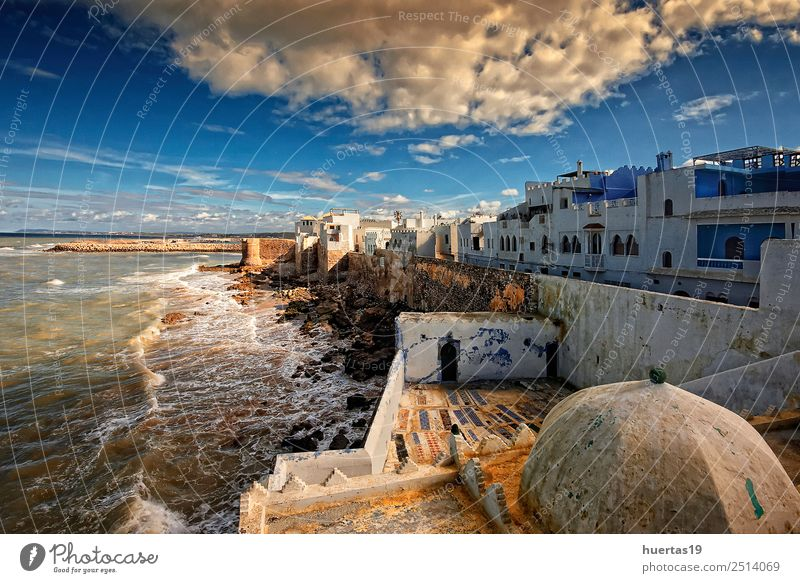 Asilah in Morocco Vacation & Travel Art Nature Landscape Water Beach Village Fishing village Small Town Skyline House (Residential Structure) Architecture