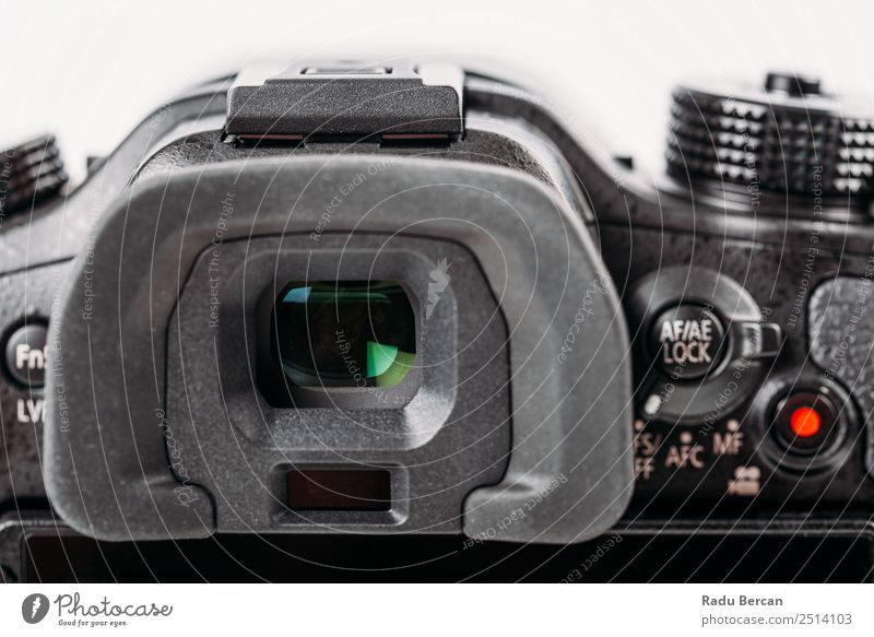 Digital Camera Viewfinder Close-Up Screen Hardware Video camera Technology Sign Characters Digits and numbers Signs and labeling Modern Black White Photography