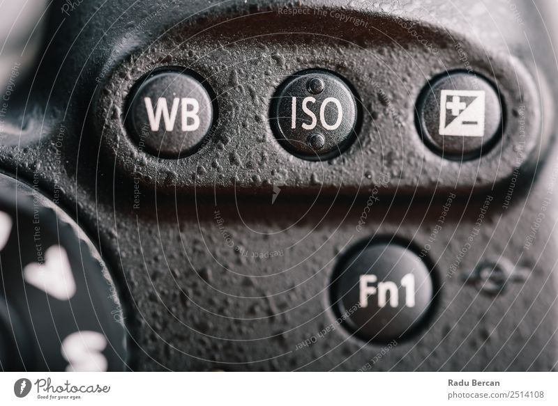 White Balance, ISO And Exposure Buttons On Digital Camera Black Modern Characters Technology Photography Sign Discover Digits and numbers Symbols and metaphors
