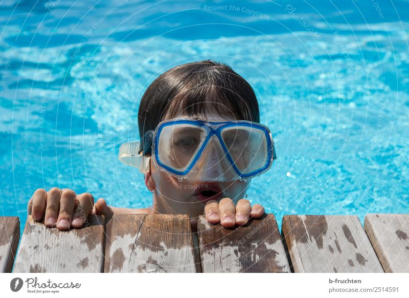 Child Human being Vacation & Travel Blue Joy Face Life Swimming & Bathing Leisure and hobbies Infancy Fingers Wet Summer vacation Swimming pool Dive Footbridge
