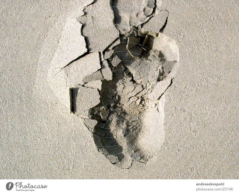 Beach Feet Sand Feasts & Celebrations Broken Footprint Grain Tracks