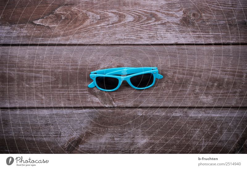 Blue sunglasses Summer Eyeglasses Sunglasses Wood Swimming & Bathing Relaxation Turquoise Vacation & Travel 1 Middle Central Footbridge Weathered Wooden board