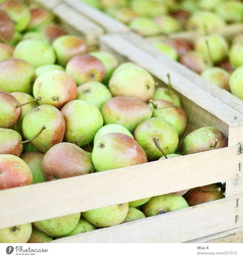box of pears Food Fruit Nutrition Organic produce Fresh Delicious Juicy Sweet Green Pear Box of fruit Harvest Farmer's market Fruit seller Fruit store