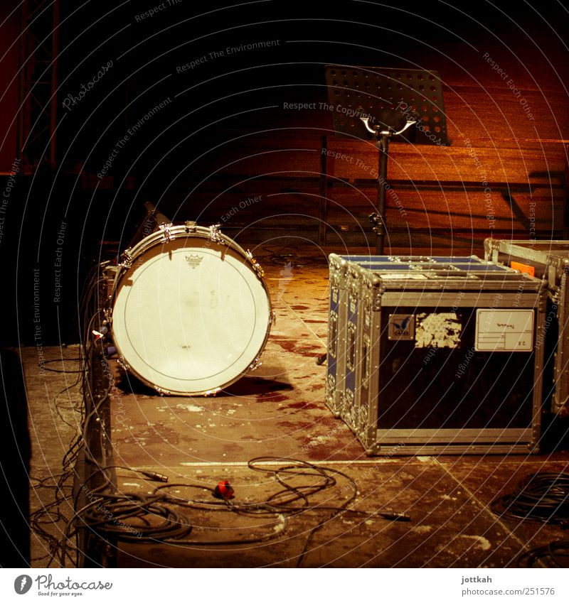 Playing Music Feasts & Celebrations Dirty Wait Empty Stand Floor covering Cable Shows Concert Band Stage Event Construction Crate