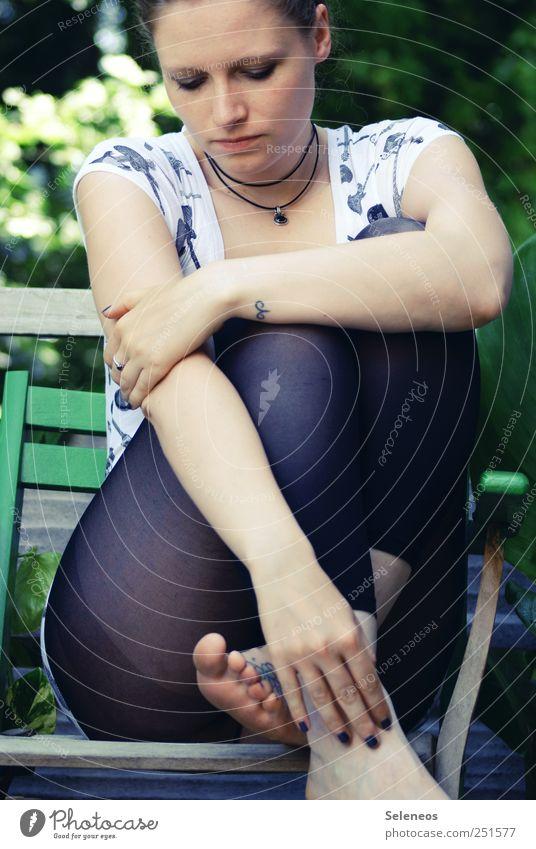 Human being Woman Nature Hand Plant Summer Face Adults Environment Feminine Head Legs Feet Park Arm Sit