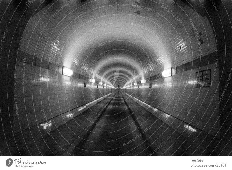 Old Elbe Tunnel Transport Historic Hamburg St Pauli-Elbtunnel Fear Claustrophobia