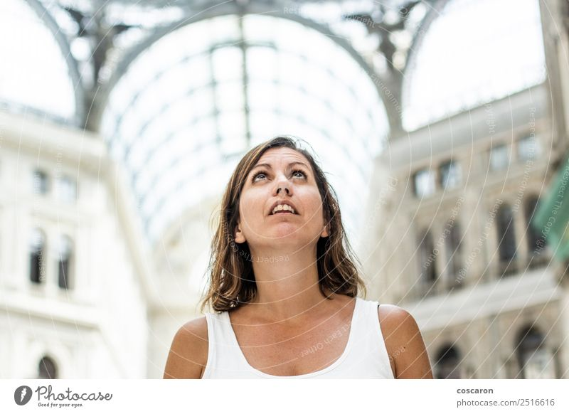 Middle aged woman impressed looking galleries in Naples Woman Vacation & Travel Old Town Beautiful Architecture Adults Style Building Art Tourism Design