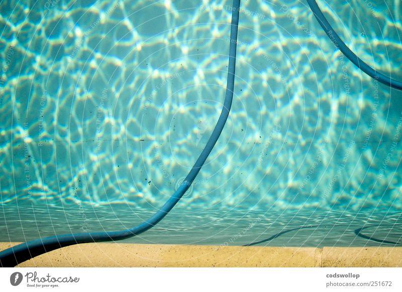 la piscine Lifestyle Calm Swimming & Bathing Summer Summer vacation Swimming pool Esthetic Fresh Water Pool border Hose Jacques Deray Colour photo Exterior shot