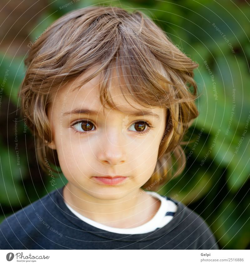Adorable small child Child Nature Plant Beautiful Colour Green White Tree Joy Face Funny Laughter Happy Boy (child) Small Playing
