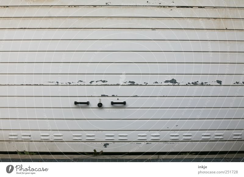 Old White Black Gray Metal Dirty Closed Transport Broken Gloomy Logistics Decline Lock Retirement Striped Door handle