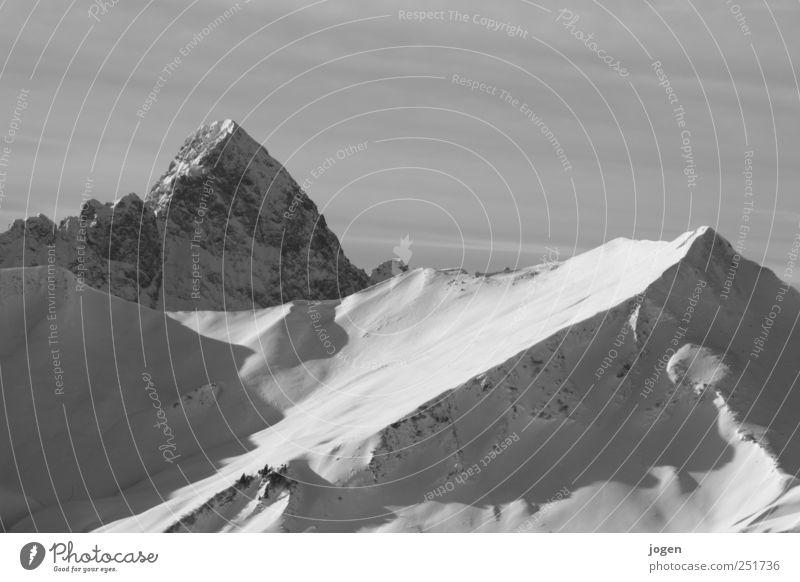 Nature Landscape Winter Mountain Snow Rock Ice Esthetic Adventure Elements Peak Frost Alps Snowcapped peak Climbing Skis