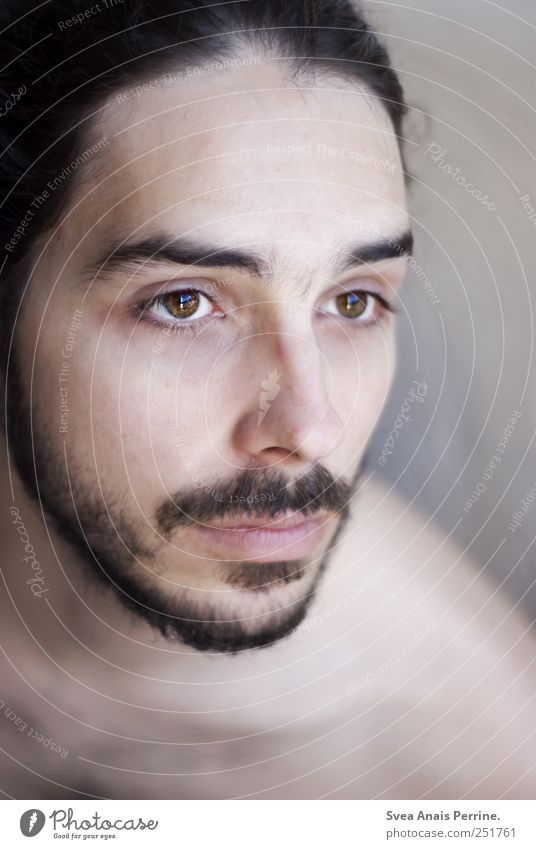 Eyes like that. Masculine Head Hair and hairstyles Face Mouth 1 Human being 18 - 30 years Youth (Young adults) Adults Black-haired Facial hair Thin Passion Hope