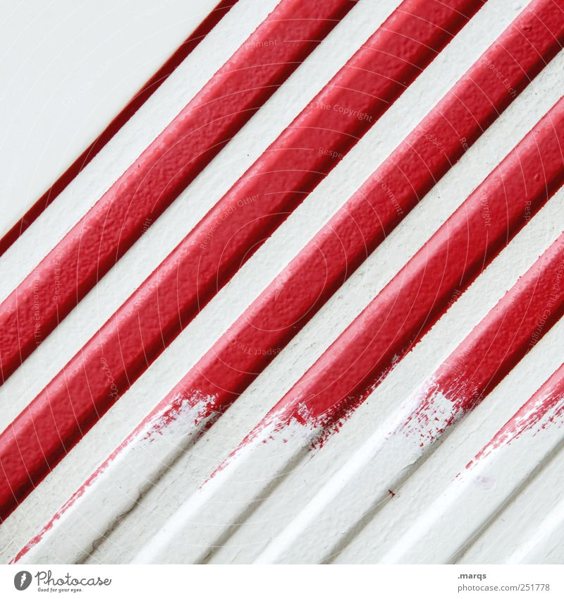 deleted Lifestyle Design Painter Line Stripe Simple Uniqueness Red White Colour Illustration Minimalistic Warn Signal Decoration Colour photo Close-up Abstract