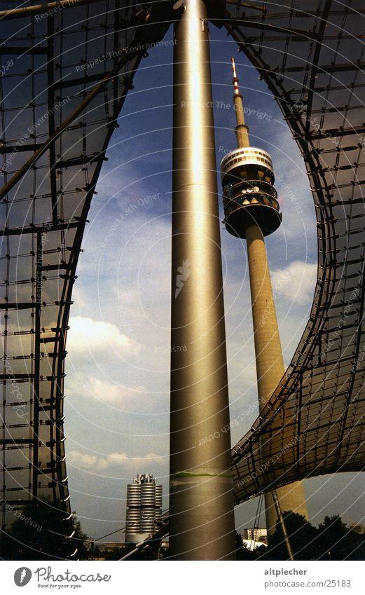 Architecture Munich Electricity pylon Television tower Carrier