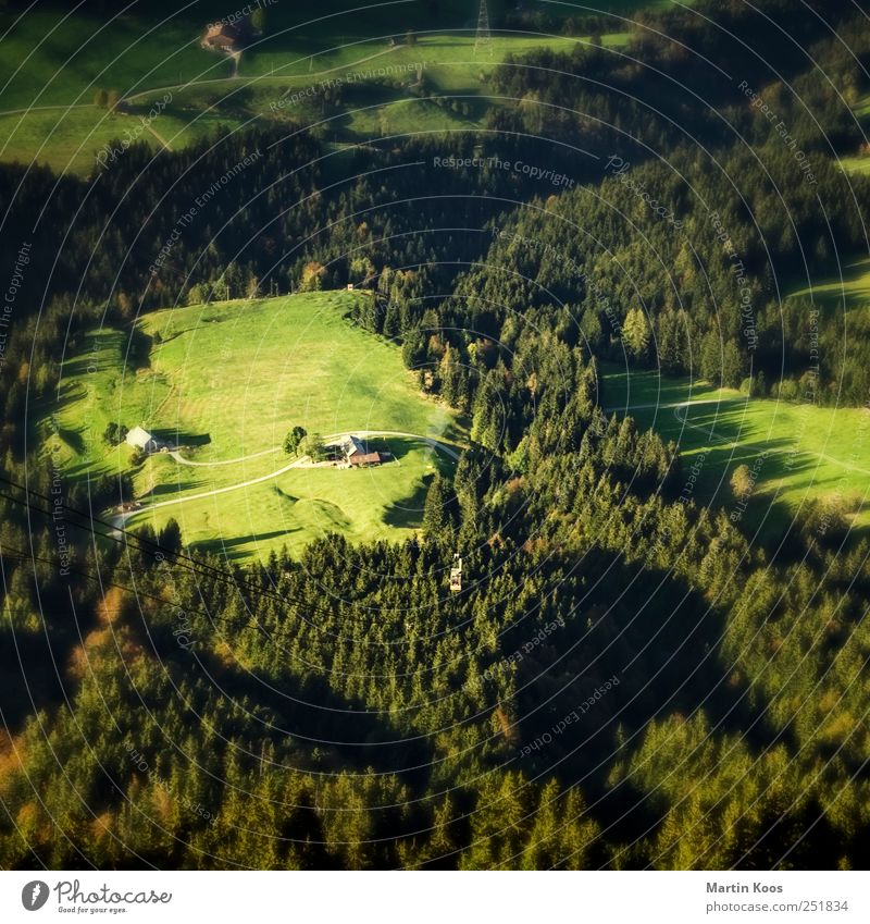 Nature Green House (Residential Structure) Forest Meadow Environment Mountain Landscape Above Small Living or residing Hill Under Village Beautiful weather