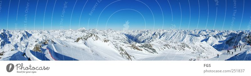 Human being Nature Vacation & Travel Relaxation Calm Joy Winter Cold Snow Group Contentment Leisure and hobbies Peak Driving Alps Snowcapped peak