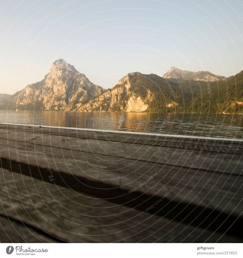 Sky Nature Water Summer Calm Environment Mountain Landscape Wood Moody Lake Gold Glittering Rock Elements Peak