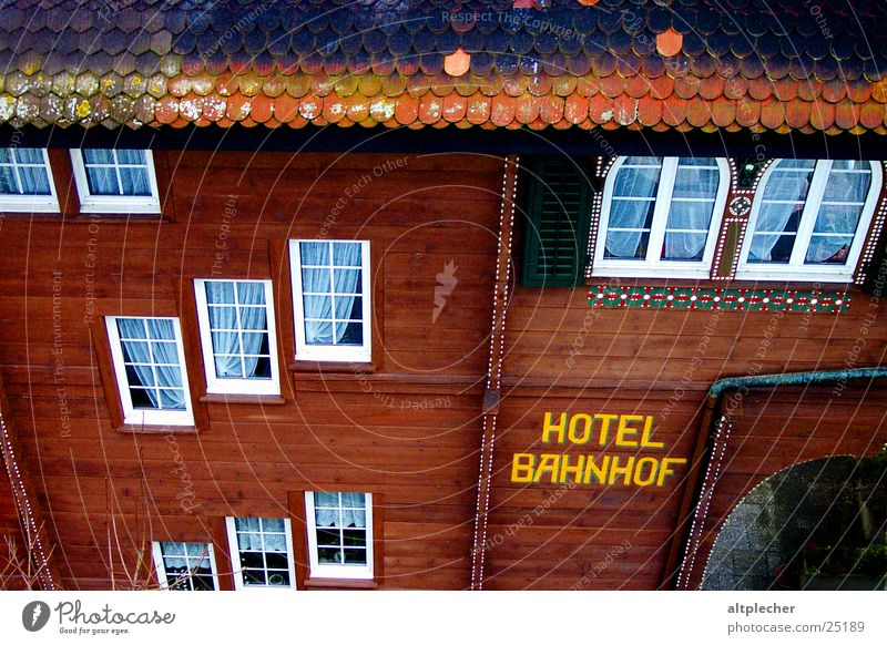 Hotel Bahnhof Facade Window Wood Curtain House (Residential Structure) Architecture