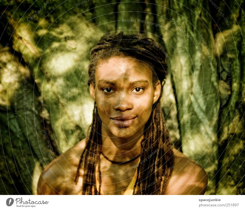 Human being Nature Youth (Young adults) Beautiful Tree Feminine Environment Landscape Adults Glittering Wild Uniqueness Illuminate Curiosity Observe Africa