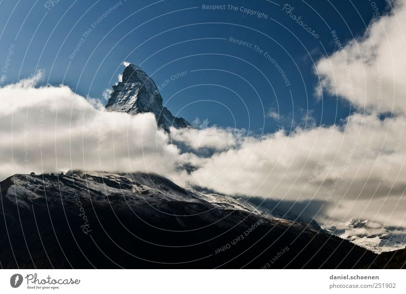 Matterhorn!! Vacation & Travel Mountain Hiking Nature Landscape Sky Clouds Alps Peak Snowcapped peak Switzerland Zermatt Panorama (View)