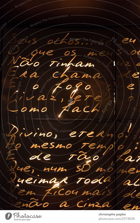 Vacation & Travel Lighting Trip Decoration Characters Culture City trip Typography Text Foreign language Poetic Poem Portuguese