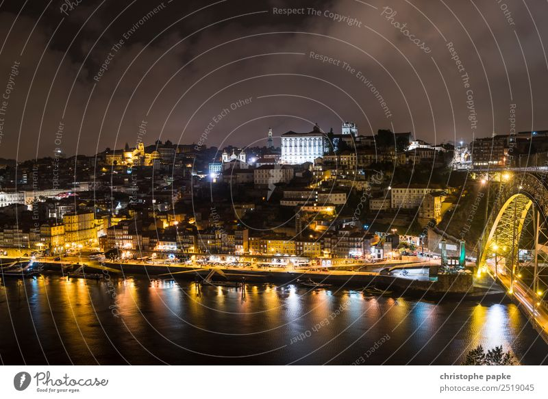 Golden Porto Vacation & Travel Sightseeing City trip Portugal Europe Town Port City Downtown Outskirts Old town Skyline House (Residential Structure)