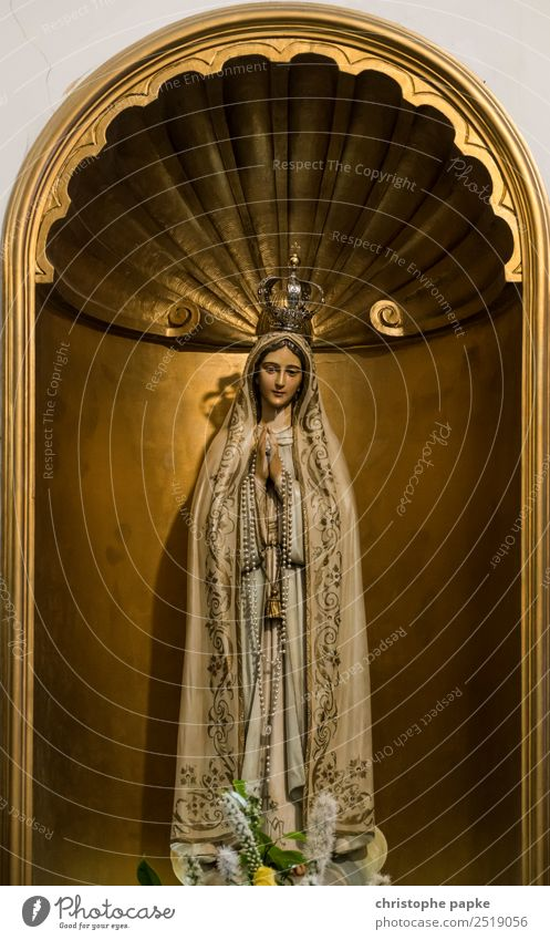Statue of Maria Vacation & Travel City trip Feminine Art Sculpture wood Old Goodness Belief Religion and faith Prayer Virgin Mary Figure